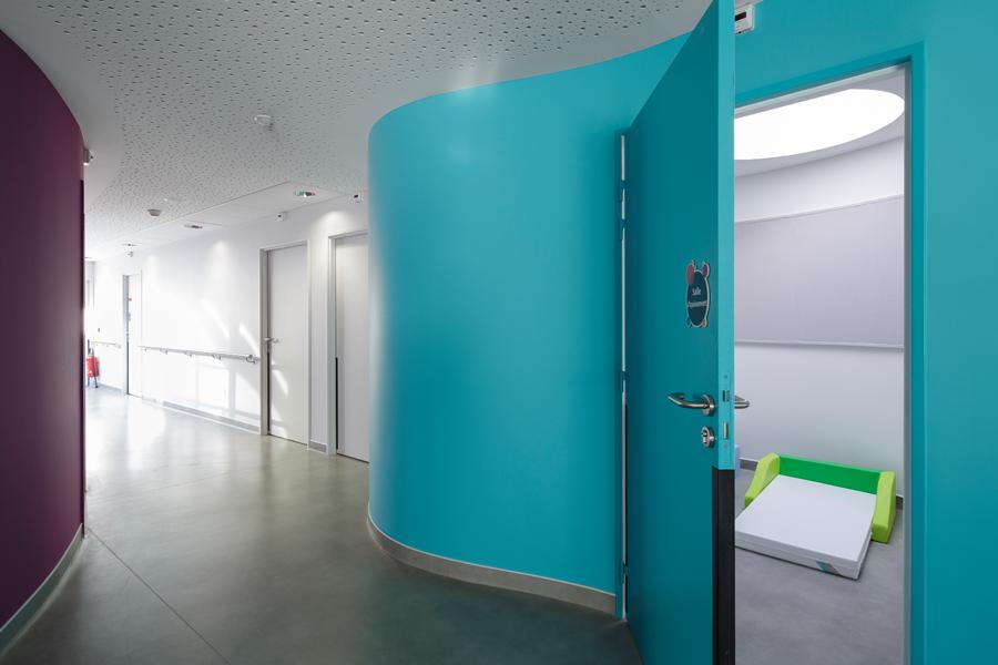 PORTE TECHNIQUE couloir CHU CHOLET