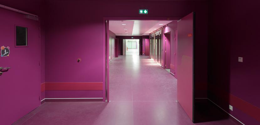 Porte tecnhique couloir CHU cholet